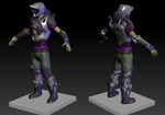 3D sculpture Game Character by AdamDarkLordJones