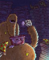 Bigfoot Throws a Pity Party for Himself by jRace