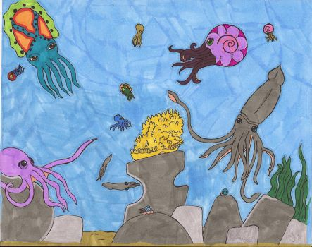 Cephlapods finished and colore by VerticalDropOG