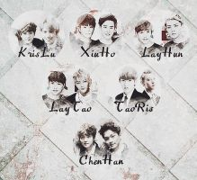 EXO Graphics. What's your favorite pairing? Part.7 by kamjong-kai
