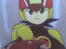 megaman heat style by ick25