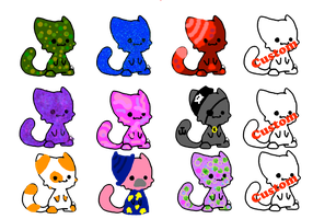 Free and points cat adopts (open) by MiriMonkey