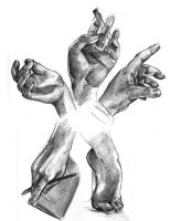 Hand and Foot Studies by blindthistle