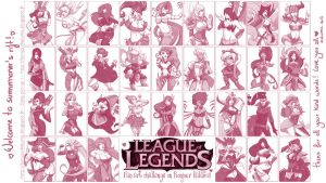 League of Legends Pin-ups Fanart Wallpaper ! by Kalumis