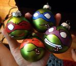 Teenage Mutant Ninja Turtle Christmas Ornaments by colacerise
