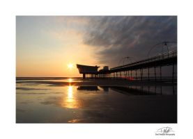 Southport Pier 7 - With border and sig by Paul-Madden