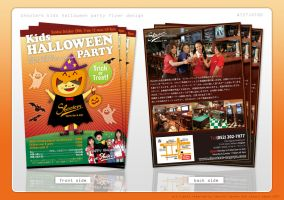 Kids Halloween Party flyer by Kenichi-Japan