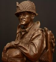 US Paratrooper Figurine - WW2 by PLutonius