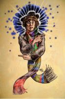 Tom Baker as DOCTOR WHO by hoganvibe