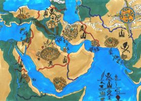Fictive Middle East Map by LooseMinded