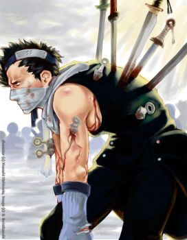 Zabuza skewered by canalicula