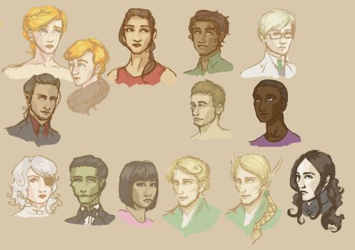 Portraits by PackOfChessyCats