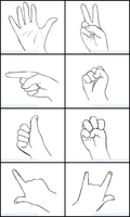 .:Hand Reference Sheet:. by BlueBead