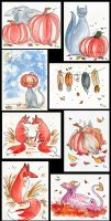 Fall Greeting Cards by Verdego