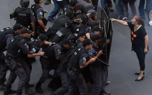 Super woman against police by ArchiveSW