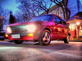 Yugo the red one by BorkoH