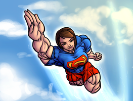 Super Emma Watson in the sky by Ritualist
