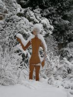 Sculpture in the snow by arbortechuser