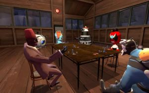 Poker Game at Watchtower by FezWearingDoctor