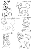 Copycatting famous artist's styles xD by BakaPup