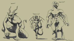 Sketch Dump - Monsters by davi-escorsin