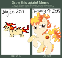 Draw it again: Ponyta by nenogirlygirl