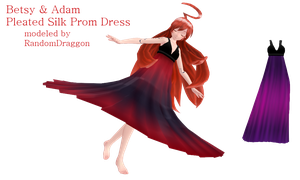 Pleated Prom Dress NOW FREE by RandomDraggon