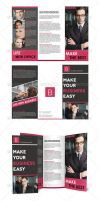 Trifold Brochure + BZ Card by UnicoDesign
