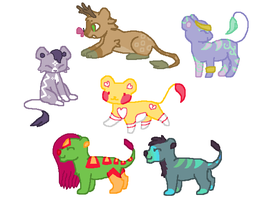 15pt Lion Adopts 4/6 OPEN by Forelleo