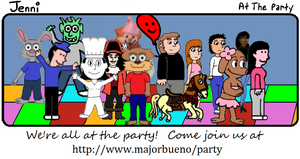 Jenni Comic 41: At the Party by JenniBee
