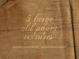 5 large old paper textures by tekhniklr