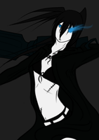 Black Rock Shooter by HoofHaven