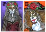 Commissions cards 2 Catrinas by mdavidct