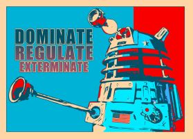 DALEK FOR PRESIDENT by MyaWho