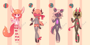 Cheap Valentine Adopts! (Closed) by LizardBat