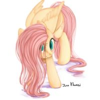 Fluttershy and smile by JunoMaussi