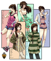 {I-A-S} Lin's Casual Clothing by SeraphicMayin