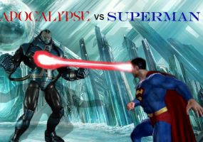 Apocalypse vs Superman by LordKrogoth