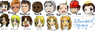Scrubs Chibis by Graffiti2DMyHeart