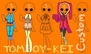 Random Outfits {CLOSED} by Tomboy-Kei