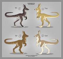 Adoptables - Canidoraptor by Mikaley