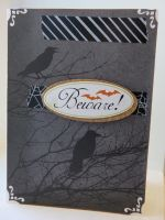 Halloween greeting card - beware ravens by inconsistentsea