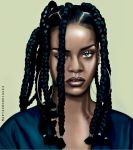 Rihanna 90s illustation by Martaxrodriguez