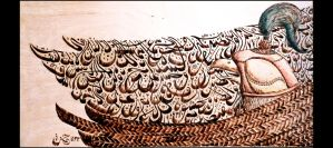 Falcon Calligraphy by RoiYik