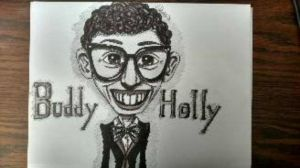 Buddy Holly Caricature by Daystar14