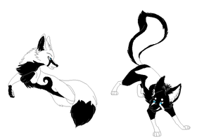 Yin Yang Fox Adoptables by Hyperactive-Blue