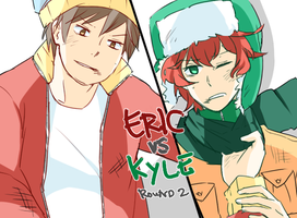 ERIC VS KYLE (round 2) by azngirlLH