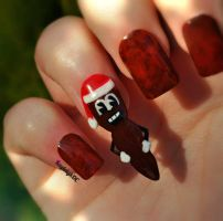 South Park Nail Art - Mr. Hankey by KayleighOC
