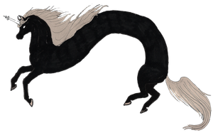 lord Monochromicorn transparent by MommaCabbit