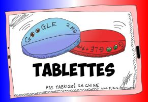 Tablettes Google Caricature News Options Binaires by optionsclickblogart
